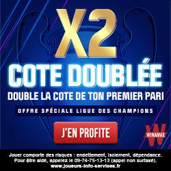 Cotes doublées Winamax Ligue des Champions