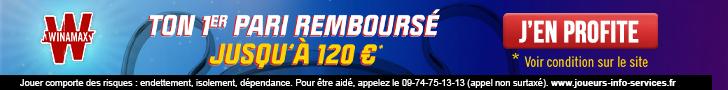 Bonus Winamax 120€ Ligue des Champions avis et test bookmaker
