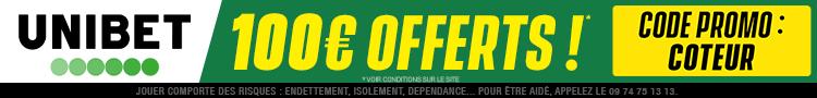 Bonus Unibet 100€ offerts avis et test bookmaker