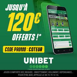 Bonus Unibet 120€ avis et test bookmaker