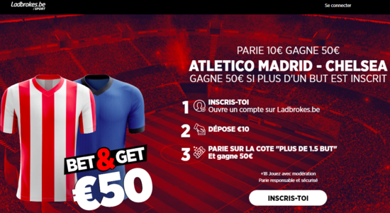 Bet and Get Atletico Madrid Chelsea Ligue des Champions