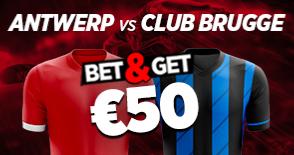 Antwerp Bruges : Pariez 10€ et Gagnez 50€ !