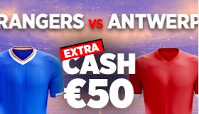 Rangers - Antwerp : Pariez 10€ et Gagnez 50€ !