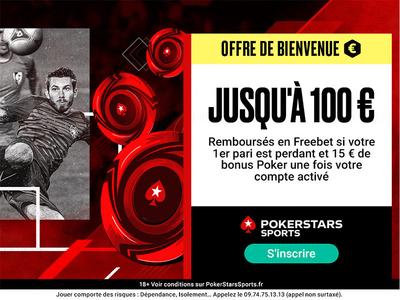 Bonus PokerStars Sport 100€