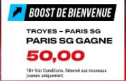 Le PSG gagne à Troyes boosté à 50.00 !!
