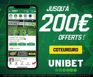 Bonus Unibet 200€ offerts avis et test bookmaker