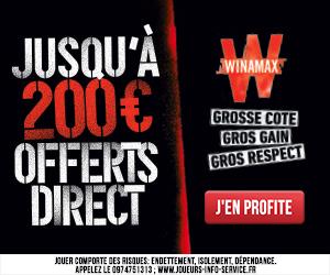 Bonus Winamax 200€ avis et test bookmaker