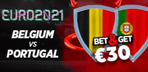 Belgique Portugal Euro : Pariez 10€ et gagnez 30€ !