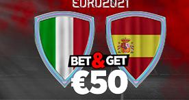 Italie Espagne : Pariez 10€ et Gagnez 50€ !