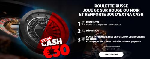 30€ à gagner sur la Roulette avec Ladbrokes !