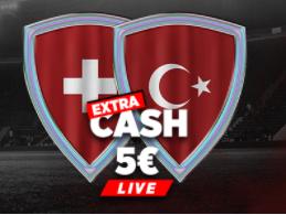 Suisse Turquie Euro : Extra Cash de 5€ à gagner !