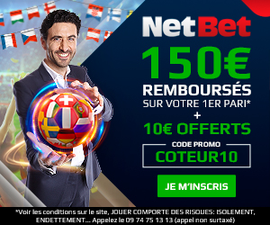 Bonus Netbet 150€ avis et test bookmaker