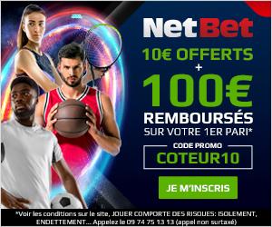 Bonus Netbet 100€ avis et test bookmaker