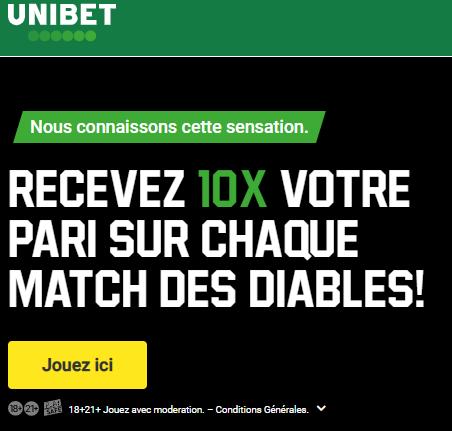 Belgique Italie Euro : Recevez 10 fois votre pari !
