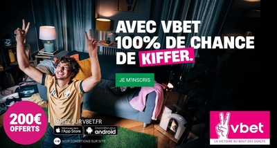 Bonus VBET 200€ avis et test bookmaker