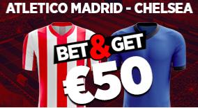 Atletico Madrid - Chelsea : Pariez 10€ et Gagnez 50€ !