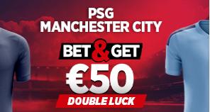 PSG Manchester City : Pariez 10€ et Gagnez 50€ !