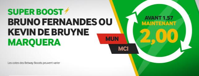 Super Boost Betway Manchester United City Fernandes De Bruyne
