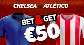 Chelsea - Atletico Madrid : Pariez 10€ et Gagnez 50€ !
