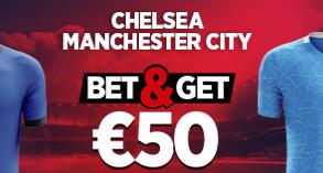 Chelsea - Manchester City : Pariez 10€ et Gagnez 50€ !
