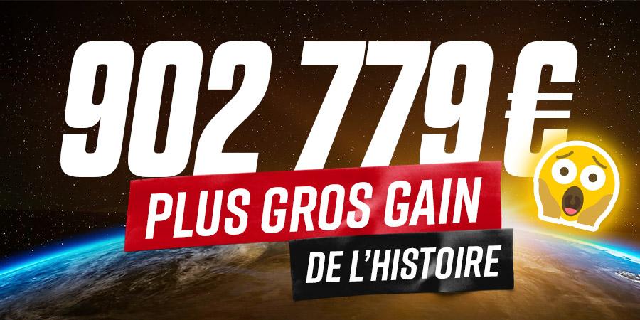 902 779€ : Un parieur décroche le plus gros gain de l'histoire !