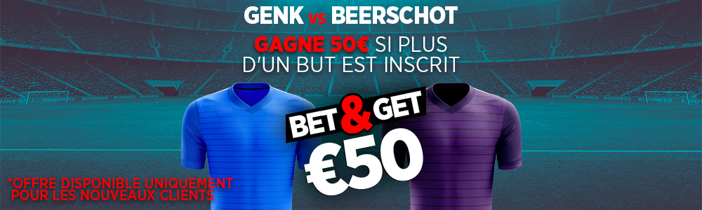 Bet and Get Genk Beerschot Jupiler Pro League