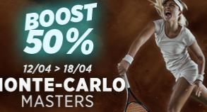 Masters Monte Carlo : Boost de 50% !