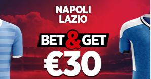 Naples - Lazio : Pariez 10€ et gagnez 30€ !