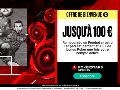 Bonus PokerStars Sport 100€ avis et test bookmaker
