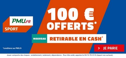 Bonus PMU 100€ cash avis et test bookmaker