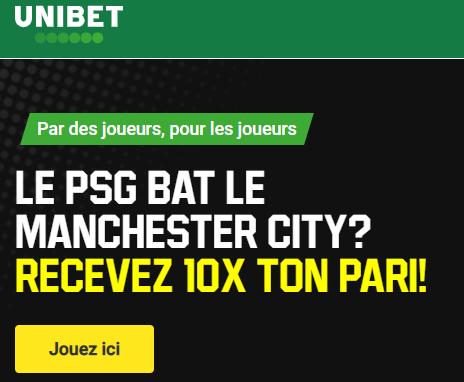 PSG Manchester City : Recevez 10 fois votre pari si le PSG gagne !