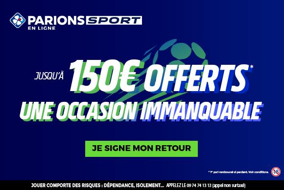 Derniers jours pour profiter du bonus de 150€ sur Parions Sport !