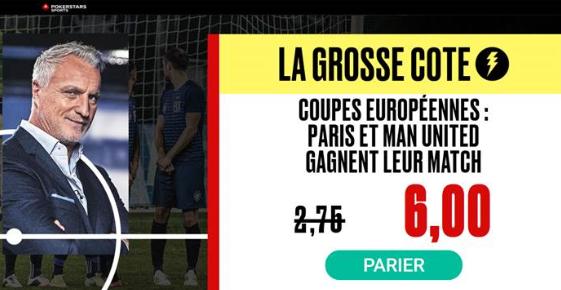 Victoire du PSG et de MU : Combiné boosté à 6.00 !