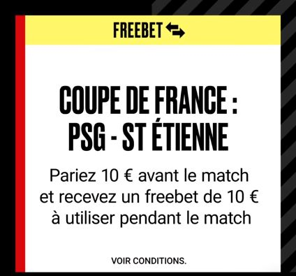 PSG - Saint Etienne : Un freebet de 10€ sur PokerStars Sports !