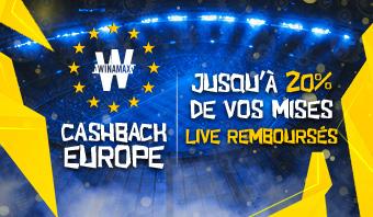 Ligue Europa : Cashback de 20€ sur vos paris live !
