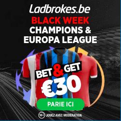 Coupes d'Europes : Black Week sur Ladbrokes !
