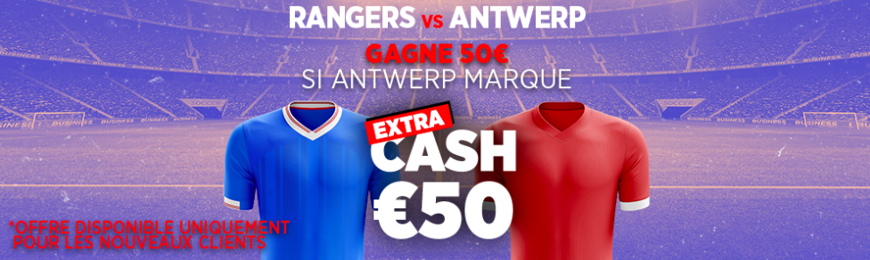 Bet and Get Rangers Antwerp Ligue Europa