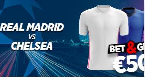 Real Madrid - Chelsea : Pariez 10€ et Gagnez 50€ !