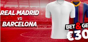 Real Madrid - Barcelone : Pariez 10€ et gagnez 30€ !