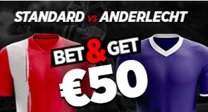 Standard - Anderlecht : Pariez 10€ et Gagnez 50€ !