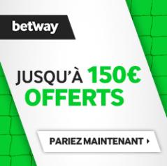 Bonus Betway 150€ avis et test bookmaker
