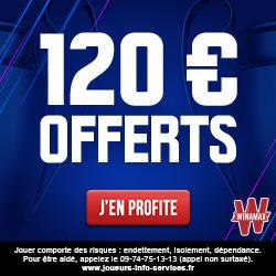 Bonus Winamax 120€ avis et test bookmaker